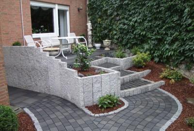 Stein Stufenanlage Gartenbau Landschaftsbau Erftstadt Köln